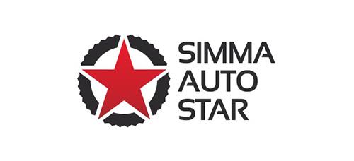 """Разработка логотипа для дилера автозапчастей """"Simma Auto Star"""""""
